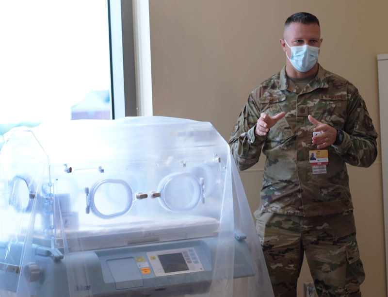 Maj. Kyle Perry, Branch Chief, Enlisted Critical Care Course